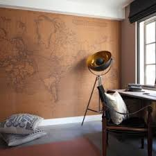 london Vintage Map home office industrial with style furniture and