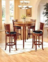 small round pub table black and chairs