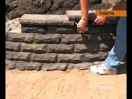 how to cap a small retaining wall step