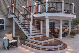 Trex Deck Post Cap Lighting Lansing Deck Lighting Outdoor Lights Swimming Pool Decks