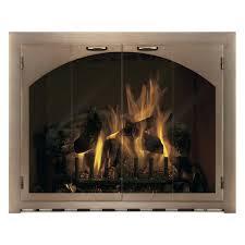 arched glass fireplace doors. Masonry Custom | WoodlandDirect.com Fireplace Glass Doors Arched P