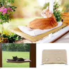 cat bed window mounted pet sunshine bed conservatory wall hammock perch cushion