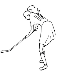Meisje Speelt Veldhockey Kleurplaat Gratis Kleurplaten Printen