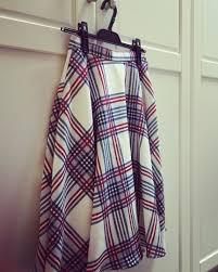 Designer Plaid Skirt Long Plaid Skirt From Japanese Boutique Designer