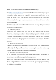 Useful Tips How To Write Letter Of Intent Pharmacy Residency