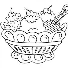 Small Picture Banana Split in Beautiful Cup Coloring Pages Best Place to Color