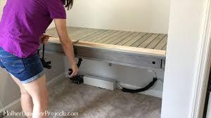 Floating Desk Build. MotherDaughterProjects.com
