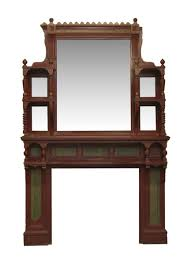 distressed mirrored furniture. Eastlake Style Wood Fireplace Mantel With Distressed Mirror Mirrored Furniture