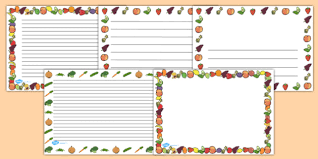 fruit and vegetables border. Plain Fruit Fruit And Vegetables Full Page Borders Landscape  Page Border  Frame For And Border V