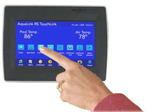 jandy mypoolyard home pool products mypoolyard com aqualink rs jandy touchlink flush mount wired control tchlnk wf