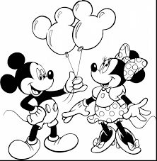 Small Picture Amazing Minnie Mouse Coloring Pages With Mickey Mouse Printable