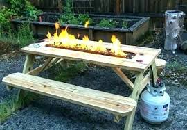 diy propane fire pit kit homemade table ideas
