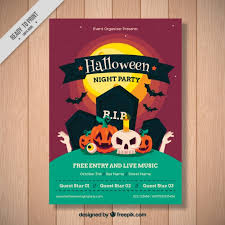 Birthday Invitation Flyer Template Custom Halloween Party Poster Template Vector Free Download