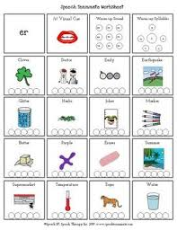 The names of the lowercase alphabet. Articulation Worksheet With Words To Help A Child Say The Er Sound Articulation Worksheets Speech Articulation Speech Activities