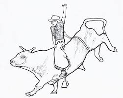 Small Picture Adult bull riding coloring pages Bull Riding Coloring Pages For