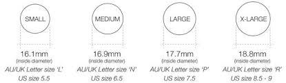 Ring Size Information Linda Tahija Jewellery