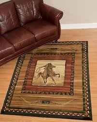united weavers genesis rawhide lodge cowboy country cabin soft olefin rug