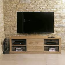 image 1 showing mobel oak. baumhaus mobel oak cantilever tv stand cor09e image 1 showing