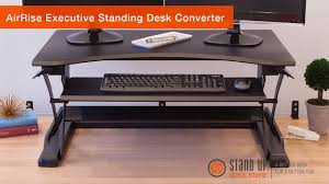 airrise executive standing desk converter stand up desk