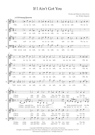 If I Ain't Got You (arr. Wendy Sergeant) - Choral Music Download