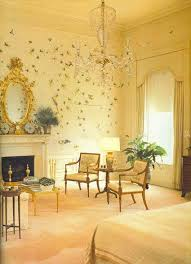 The Reaganu0027s Had Their White House Bedroom Papered With This Poetic Antique  Chinese Wallpaper.