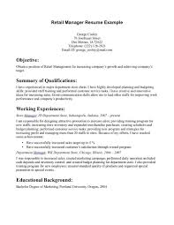 Retail Resume Template Manager Cv Uk Sample Microsoft Word Free