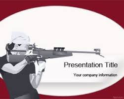Olympic Shooting Powerpoint Template