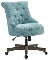 sinclair office chair gray wash wood base light blue transitional office chairs