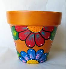 plant pot decoration ideas pottery hand painted flower pot rustic flower pot painted clay pot planter