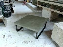 square concrete coffee table concrete coffee table polished and walnut contemporary square top large square concrete