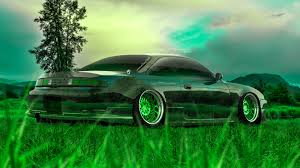 nissan silvia s jdm back crystal nature car