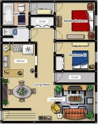 18 2 Bedroom Apartment Floor Plans Garage  HobbylobbysinfoApartments Floor Plans 2 Bedrooms