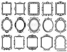 frame design vector. Unique Design Vintage Victorian Baroque Rococo Frame For Mirror Menu Card Design  Vector Collection For Frame Design Vector