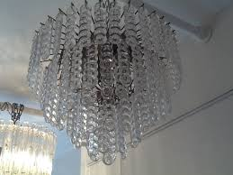 murano glass three tiered chandelier