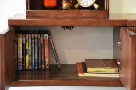Wall Media Cabinet Floating Media Wall Shelf Cabinet Curve Mocha 3 Piece