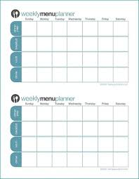 Week By Week Planner Click To Print Tpm Customizable Two Week Menu Planner Saving