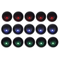 cheap red rocker switch red rocker switch deals on line at switch xg2d · hotsystem 5 blue 5 red 5 green dot led light round