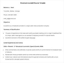 Journalism Resume Examples Freelance Writer Resume Template