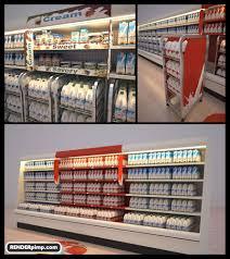 Point Of Sale Material Design Retail Fridge Pop Point Of Sale Pos Milk 3d Render