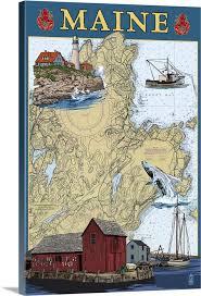 Chart House Maine Maine Scenes Nautical Chart