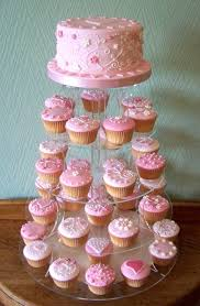 Not Pink Cupcakes But Carrot Cake Cupcakes With Wedding Cake On Top
