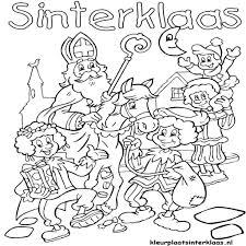 Kleurplaat Sinterklaas Bovenbouw Archidev Bladeren Kleurplaat