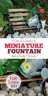 how to make a garden fountain. Unique How Make A Miniature Fairy Garden Fountain That Really Works On How To A
