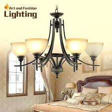 rustic brown wrought iron chandelier vintage feel living room lights frosted milk glass light shade 6