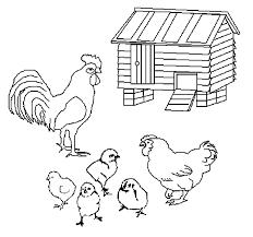 Boerderij Kleurplaten Kippen