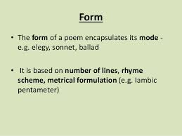poems form form and structure edexcel literature certificate poems