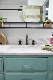 Modern farmhouse bathroom remodel ideas Farmhouse Style Modern Farmhouse Bathroom Decor Love This Oil Rubbed Bronze Sink With Marble Vanity Top Lolly Jane Farmhouse Bathroom Remodel Sources Lolly Jane