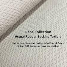 Fancy Moroccan Trellis Non-Slip Doormat Accent Rug Rubber Backed ...