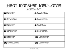 conduction convection radiation worksheet. conduction convection radiation task cards worksheet