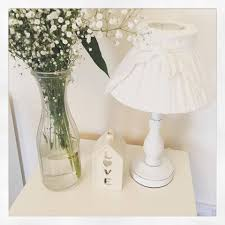 delectable white shabby chic table lamp images coffee design ideas bedside lamps modern with usb ports